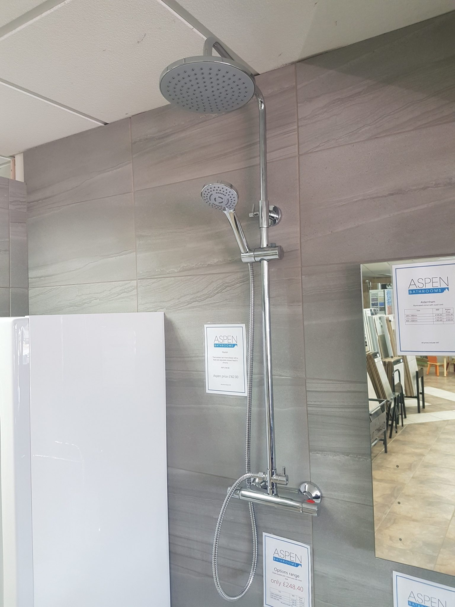 Aspen Bathrooms Trade range